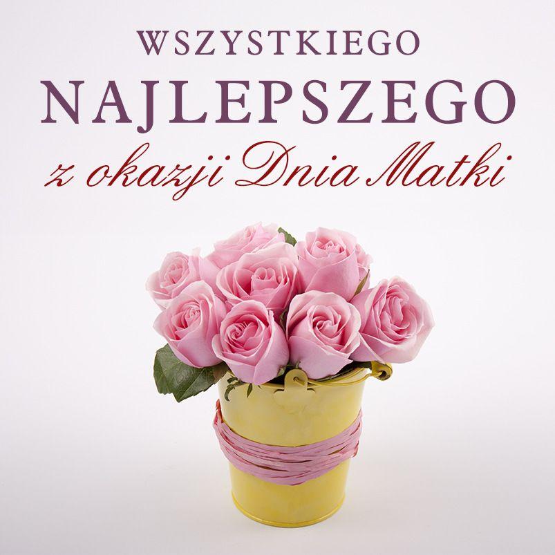 grafika z różami i tekstem: Wszystkiego najlepszego z okazji Dnia Matki
